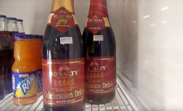 безалкогольное шампанское на Мальлдивах