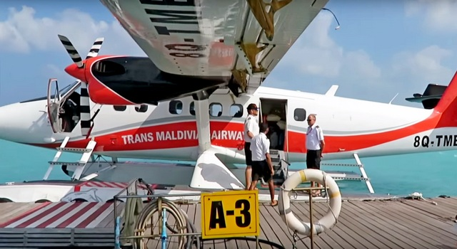 транферы на Мальдивах. Гидросамолет