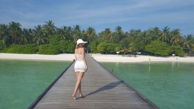 пляж отеля Sun Island. Мальдивские острова