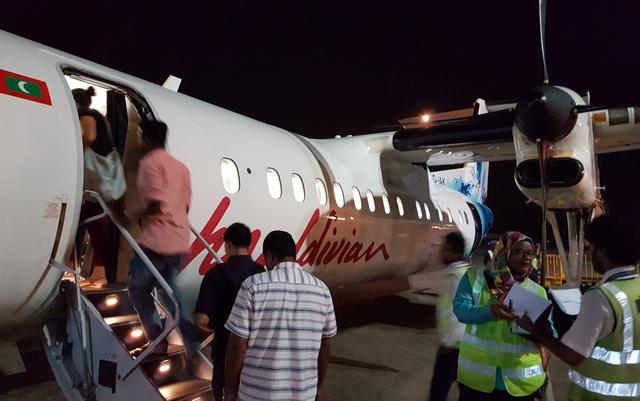 посадка на внутренний рейс в Дараванду