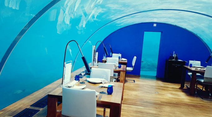 подводный ресторан к Конраде