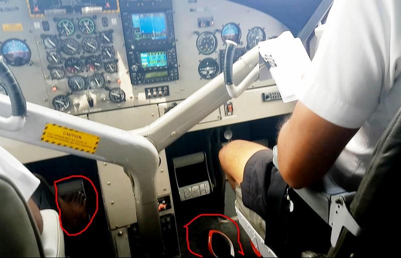 bosonogie piloty na Maldivah